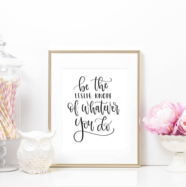 Printable Art Prints - Leslie Knope Printable Art Print