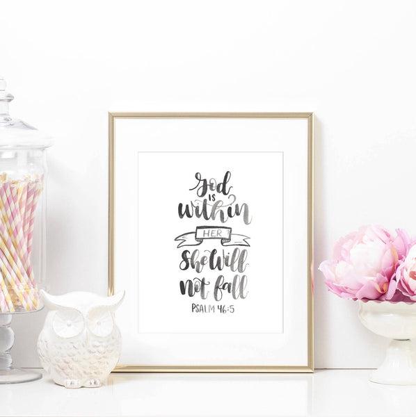 Psalm 46:5 Printable Art Print