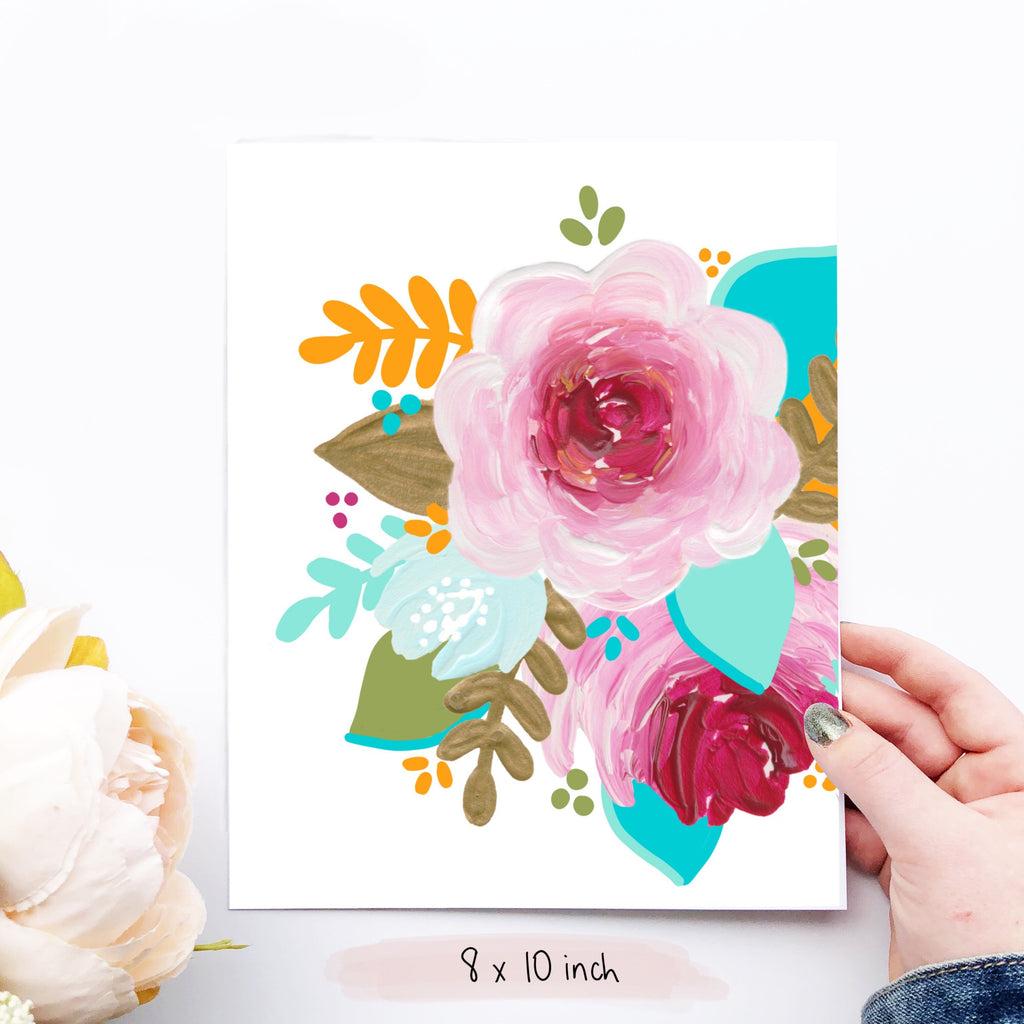 Tropical Florals Art Print