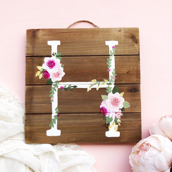 Wood Piece - Monogram Wood Pallet