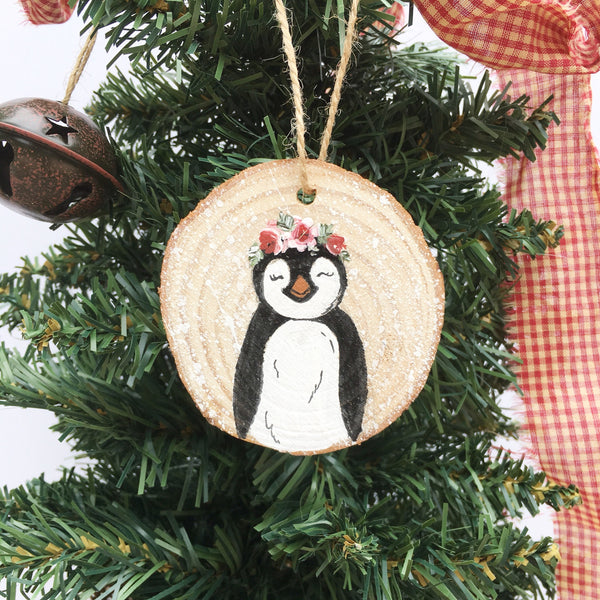 Wood Piece - Penguin Ornament