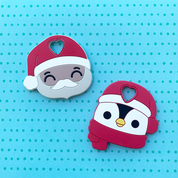 Personalized Santa Penguin Teether (Limited Edition)