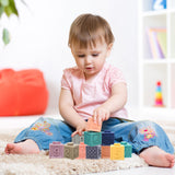 Baby Silicone Building Blocks (Set of 12pcs)