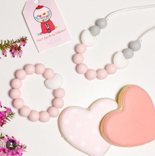 Kids Teething Bracelet - Amelia (Pink)