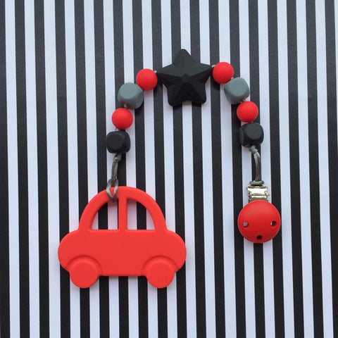 Mr. Bean Car Teether (Red)