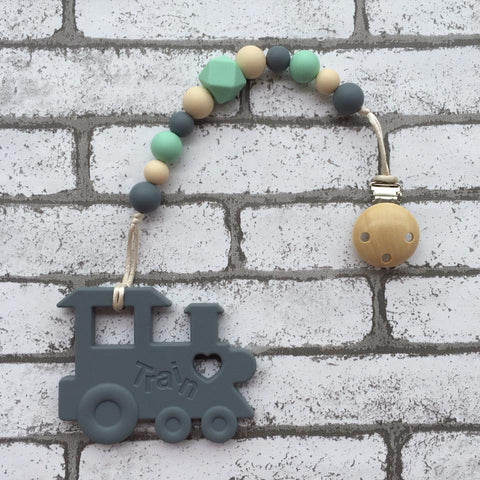 Choochoo Train Teether (Grey)