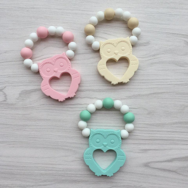 Owl Teether Rattle (Cream)
