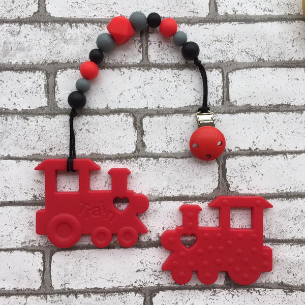 Choochoo Train Teether (Red)