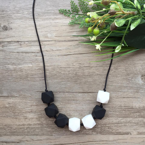 Adult Teething Necklace - Olivia (Black)