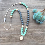 Adult Teething Necklace - Charlotte (Mint)