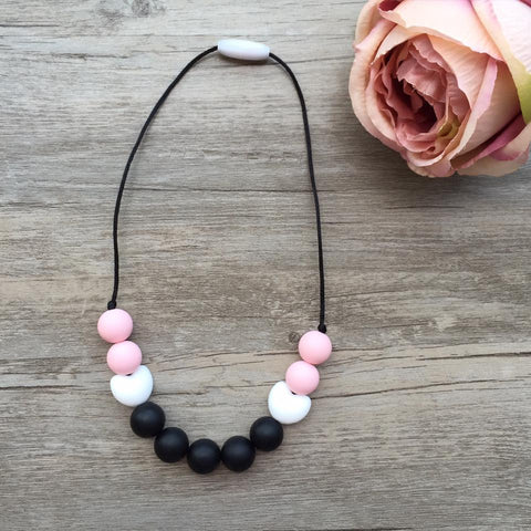 Kids Teething Necklace - Amelia (Black)