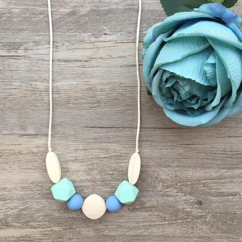 Adult Teething Necklace - Bailey (Mint)