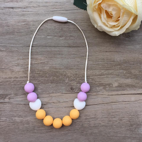 Kids Teething Necklace - Amelia (Mango)