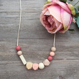 Adult Teething Necklace - Lucille (Blush)