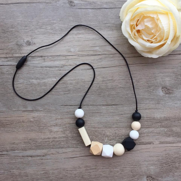Adult Teething Necklace - Lucille (Black)