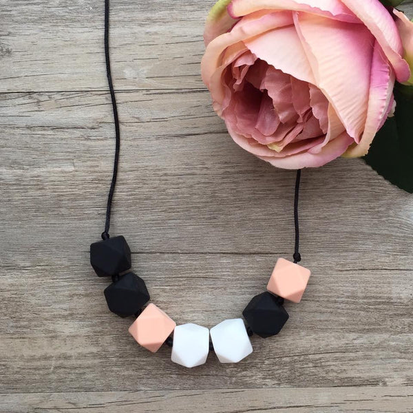 Adult Teething Necklace - Olivia (Blush)