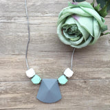 Adult Teething Necklace - Aria (Grey)