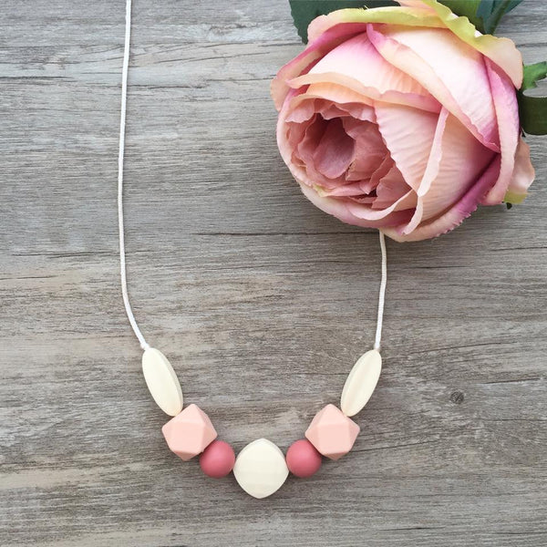 Adult Teething Necklace - Bailey (Blush)