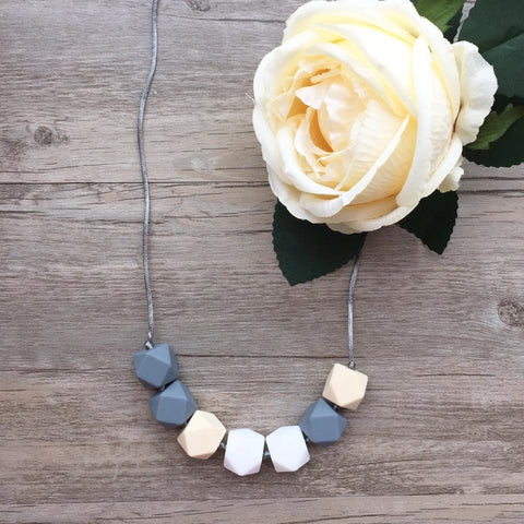 Adult Teething Necklace - Olivia (Grey)
