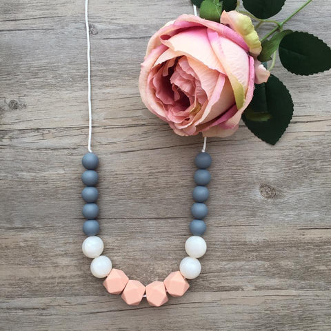 Adult Teething Necklace - Juliet (Blush)