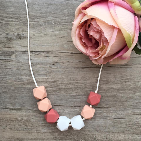 Adult Teething Necklace - Olivia (Coral)