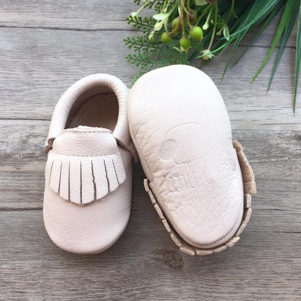 Classic Birch Leather Moccasins