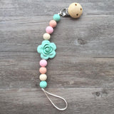 Rose Pacifier Clip