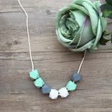 Adult Teething Necklace - Olivia (Mint)