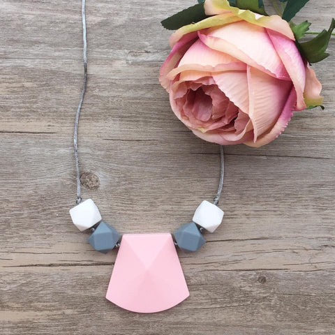 Adult Teething Necklace - Aria (Blush)