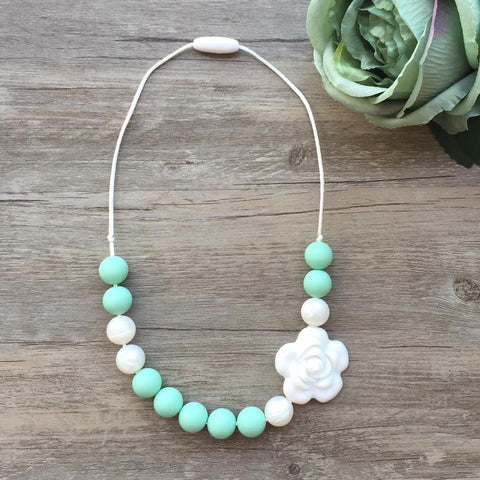 Kids Teething Necklace - Scarlet (Mint)