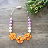 Kids Teething Necklace - Giselle (Mango)