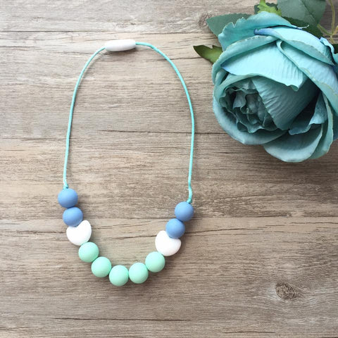 Kids Teething Necklace - Amelia (Mint)