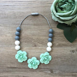 Kids Teething Necklace - Giselle (Mint)