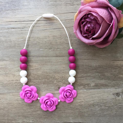 Kids Teething Necklace - Giselle (Purple)