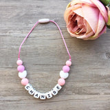 Kids Heart Personalized Necklace (Pink)