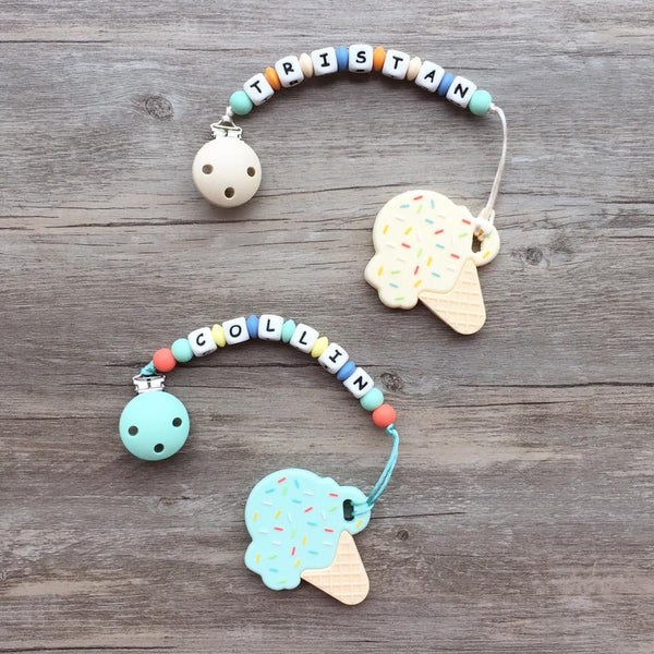 Personalized Ice Cream Teether (Mint)