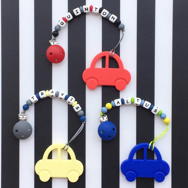 Personalized Car Teether (Red)
