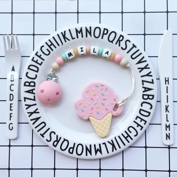 Personalized Ice Cream Teether (Strawberry)