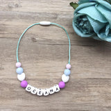 Kids Heart Personalized Necklace (Purple)