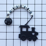 Personalized Train Teether (Black)
