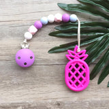 Pineapple Teether (Fuchsia)