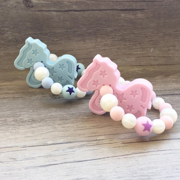 Pony Teether Rattle (Pink)