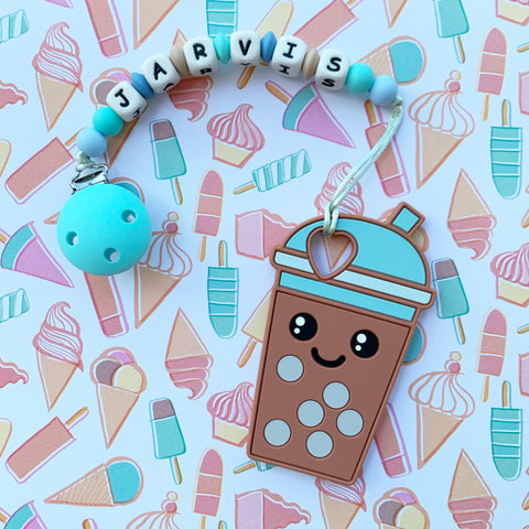 Personalized Bubble Tea Teether(Brown)