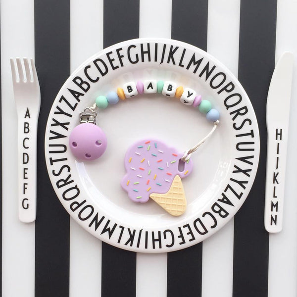 Personalized Ice Cream Teether (Purple)