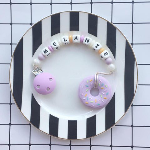 Personalized Donut Teether (Purple)