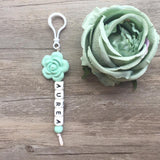 Rose Personalized Key Chain