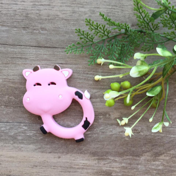 Silly Cow Teething Toy (Pink)