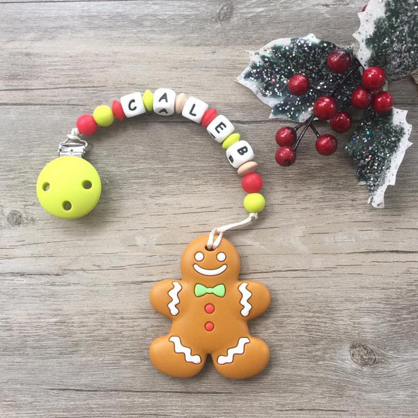Personalized Christmas Gingerbread Man Teether (Limited Edition)