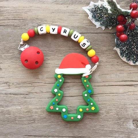 Personalized Christmas Tree Teether (Green - Limited Edition)