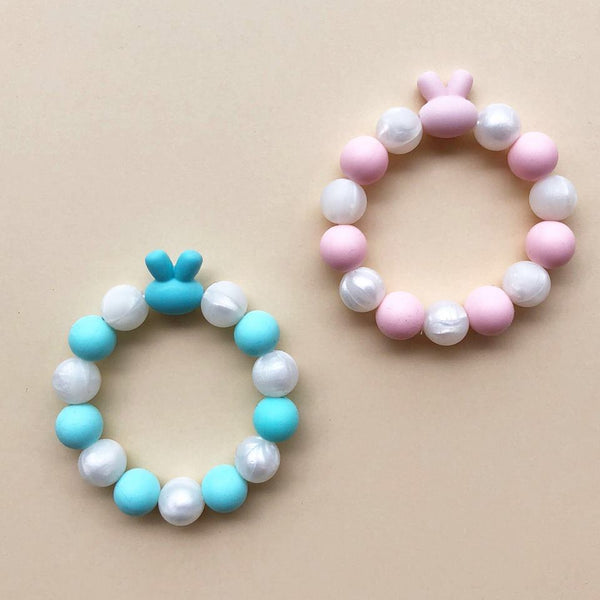 Kids Teething Bracelet - Bunny (Blue)